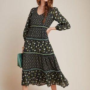 Anthropologie Karoline Tiered Maxi Boho Dress